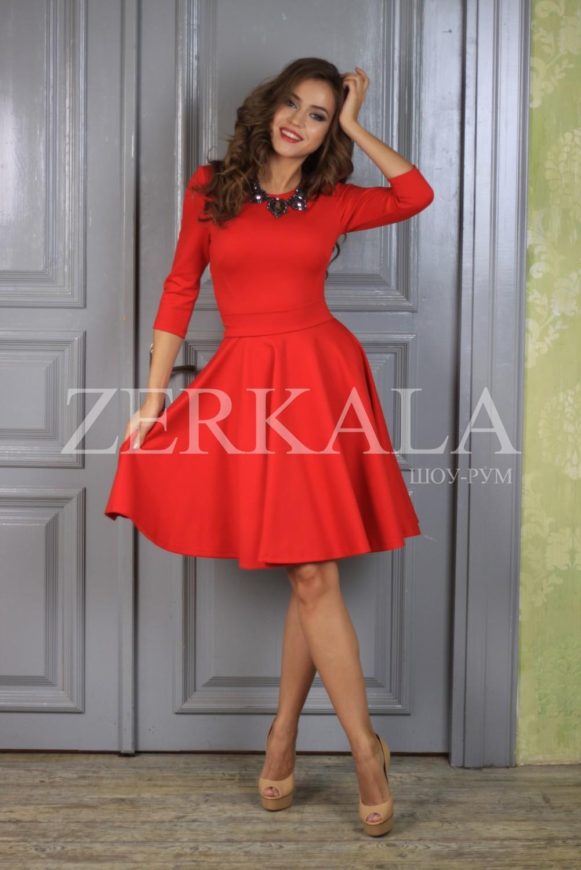 платье красное короткое фото
