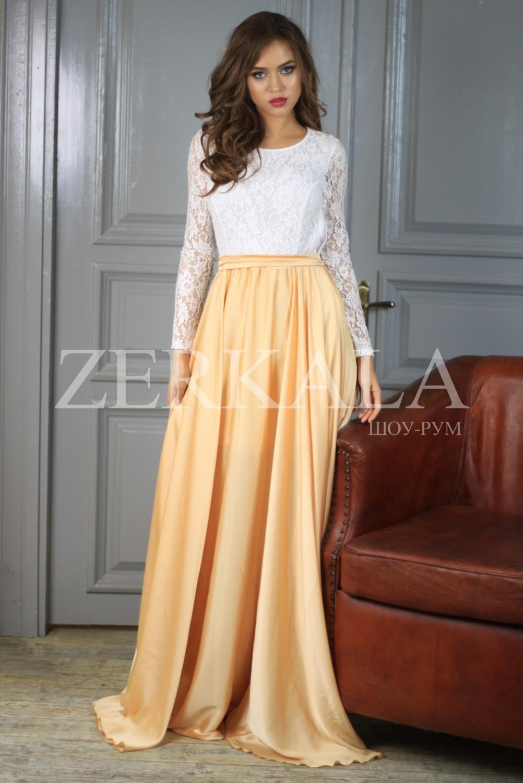 Платье Бежевое В Пол Купить