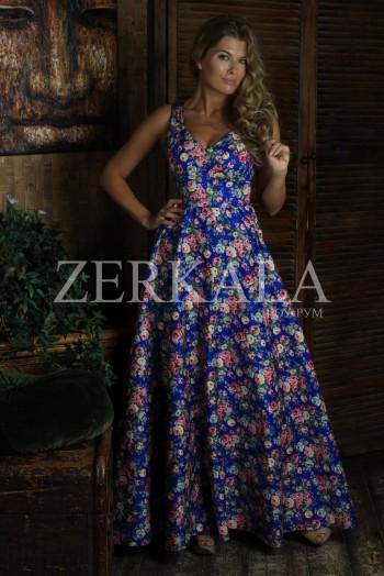 Летнее хлопковое платье в цветочек