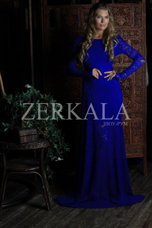 c621cfbef55 Купить Синее вечернее кружевное платье в пол в интернет-магазине дешево