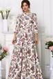 Вечернее хлопковое платье в пол в цветочек