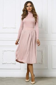 Костюм из люрекса розовый