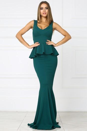 Зеленое платье рыбка