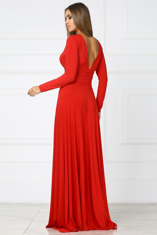 Длинное Вечернее Красное Платье Купить