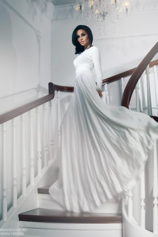 Вечернее белое платье доставка
