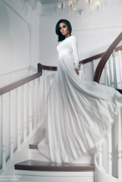 Шикарное вечернее белое платье в пол