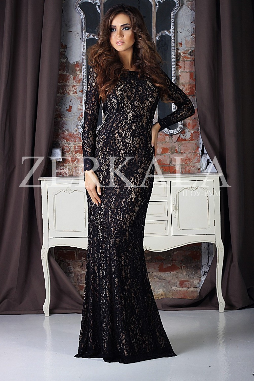 Купить платье вечернее гипюровое