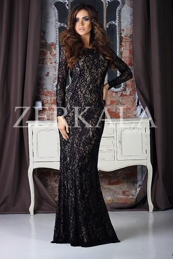 Вечернее гипюровое, кружевное платье в пол со шлейфом, дизайнерское длинное платье
