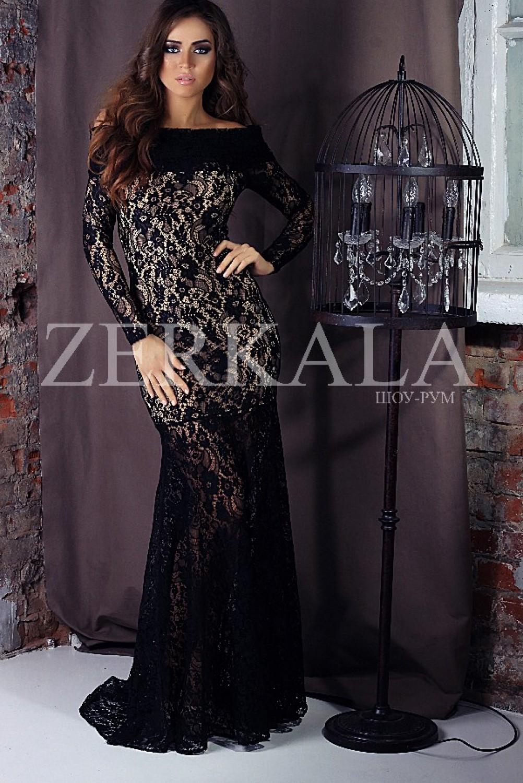 Черное кружевное платье 24 фотография