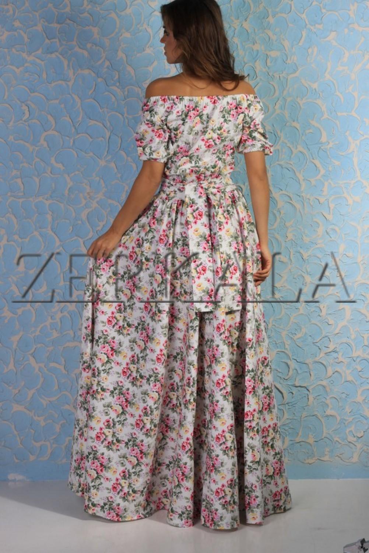 Купить Длинное Летнее Платье Из Хлопка