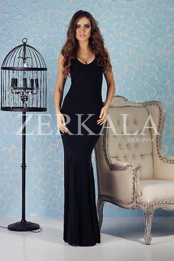 Шикарное платье рыбка, цвет черный