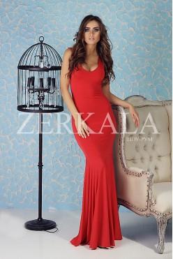 Шикарное платье рыбка, цвет красный