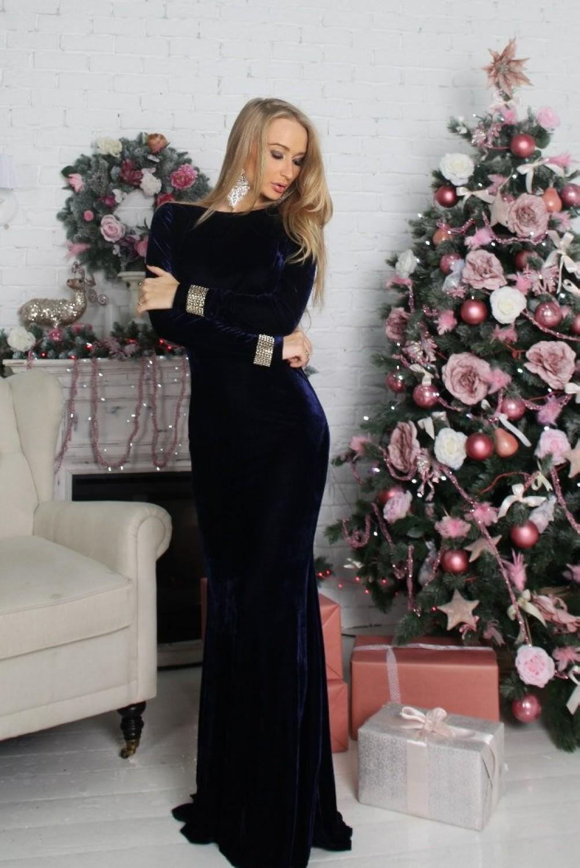 Длинное Бархатное Платье Купить