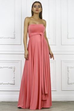 Платье трансформер, цвет коралловый