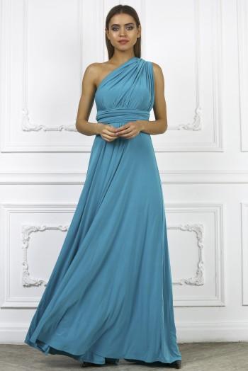 Платье трансформер, цвет бирюзовый