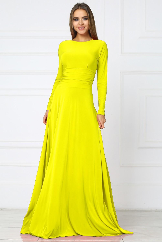 70fb6ae9f7cbf02 Купить желтое Вечернее платье в пол