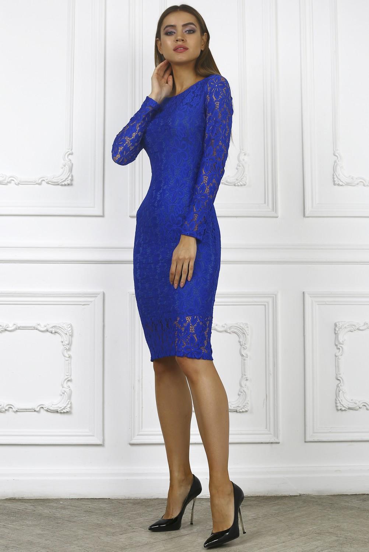 Купить Синее Коктейльное Платье