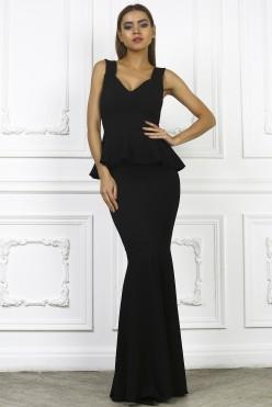 Платье рыбка черного цвета