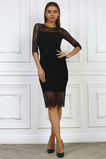 Платье миди из французского кружева