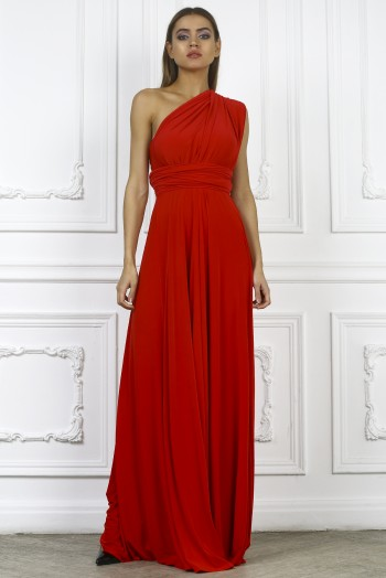 Платье трансформер, цвет красный