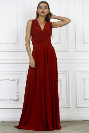 Платье трансформер, цвет бордовый