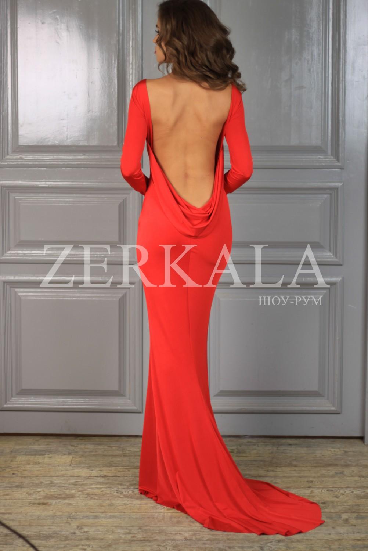 51c64775a5e6d3a Купить в интернет-магазине вечернее красное платье с открытой спиной