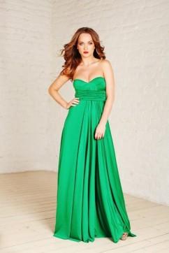 Платье трансформер, цвет зеленый